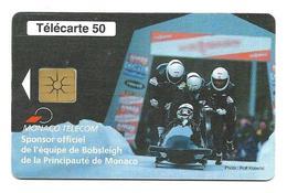 Télécarte Monaco  Bobsleigh - Monaco