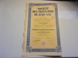 MINES D'OR DE BAO LAC (1926) Hanoi,indochine - Non Classés