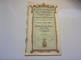 VERRERIES D'INDOCHINE (haiphong,tonkin) - Non Classés