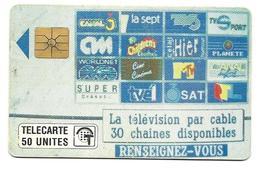 Télécarte Monaco MF 12  Télé Cablée 50U - Monaco