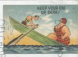 """Couple Disproportionné Dans Une Barque: """"Keep Your End Up, Dear!"""" - Humour"""