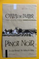 100103 - Château De Duillier Pinot Noir 1995 Suisse - Etiquettes