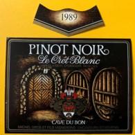 10108 - Pinot Noir 1989 Le Crêt Blanc Suisse - Etiquettes