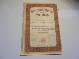 PLANTATIONS D'HEVEAS DE LA SOUCHERE (fondateur) SAIGON,INDOCHINE - Non Classés