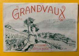 10112 - Grandvaux Veuve Lederrey Hôtel Du Monde Suisse - Etiquettes