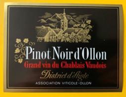 10113 - Pinot Noir D'Ollon Suisse - Etiquettes