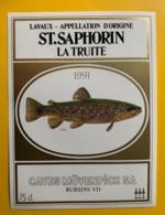 10117 - Saint-Saphorin La Truite 1991  Suisse - Etiquettes