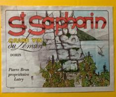 10118 - Saint-Saphorin Grand Vin Du Léman Pierre Bron Lutry Suisse - Etiquettes