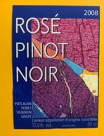 10120 - Rosé De Pinot Noir 2008 Yves Alain Perret Savuit Suisse - Etiquettes