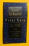 10121 - Savuit Les Barattes Pinot Noir 2006 François Roussel Savuit Suisse - Etiquettes