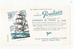Buvard , Chocolat POULAIN ,chansons De France ,HARDI LES GARS , Blois , Frais 1.55 E - Alimentaire