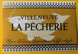 10123 - Villeneuve La Pêcherie Henri Badoux Suisse - Etiquettes