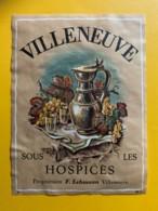 10127 - Villeneuve Sous Les Hospices  Suisse - Etiquettes