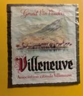 10128 - Villeneuve   Suisse - Etiquettes