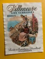10130 - Villeneuve Les Terrasses Dorin   Suisse - Etiquettes