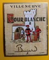 10131 - Villeneuve Tour Blanche   Suisse  Homme En Rouge - Etiquettes