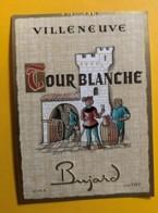 10132 - Villeneuve Tour Blanche   Suisse  Homme En Bleu - Etiquettes