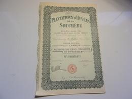 PLANTATIONS D'HEVEAS DE LA SOUCHERE (100 Francs) SAIGON,INDOCHINE - Non Classés