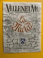 10133 - Villeneuve La Muraz JJ Bertholet  Suisse - Etiquettes