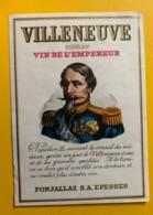 10135 - Villeneuve Vin De L'empereur Napoléon III Suisse - Etiquettes