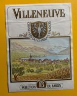 10137 - Villeneuve Pinot Noir 1995 Cave Du Crepon  Suisse - Etiquettes