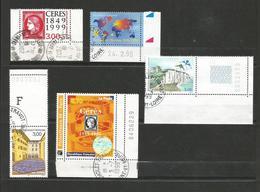 1 Lot De 5 Timbres Oblitérés 1999 France Avec N° De Feuille - Timbres
