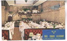 NEW YORK  THREE  CROWNS  RESTAURANT    TBE     US286 - Cafés, Hôtels & Restaurants