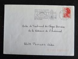 SAINT FLOUR - CANTAL - FLAMME MUSEE POSTAL AUVERGNE CENTENAIRE GARABIT LIBERATION SUR LIBERTE GANDON - Marcophilie (Lettres)