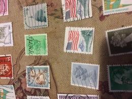 USA FLAG E PARCHI NAZIONALI - Timbres