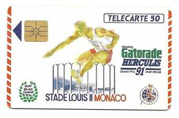 Télécarte Monaco MF15 Gatorade Herculis 91 - Monaco