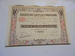 Cafés De L'indochine (1926) SAIGON,INDOCHINE - Non Classés