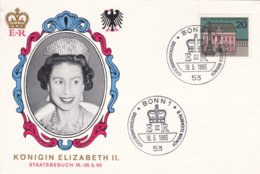 Queen Elizabeth II Visiting Germany, Cover From Bonn 1965 (DD9-2) - Koniklijke Families