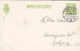 Denmark Postal Stationery Ganzsache (167) 15 Øre Chr. X. Brotype IId HASLEV 1949 ESBJERG (2 Scans) - Postal Stationery