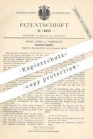 Original Patent - Georg Göbel , Darmstadt , 1880 , Gaskonsum - Regulator | Gasregulator | Gasuhr | Gas , Gase !!! - Historische Dokumente