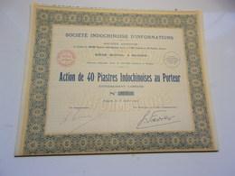 INDOCHINOISE D'INFORMATIONS (1927) SAIGON,INDOCHINE - Non Classés