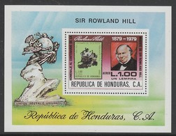 BLOC NEUF DU HONDURAS - CENTENAIRE DE LA MORT DE SIR ROWLAND HILL N° Y&T BF 30 - Rowland Hill