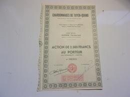 CHARBONNAGES DE TUYEN QUANG (2500 Francs) Indochine - Non Classés