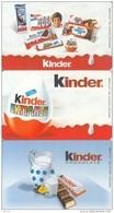 GREECE(chip) - Set Of 3 Cards, Kinder, Tirage 35000, 01/03, Used - Télécartes