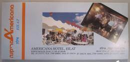 ISRAEL PALESTINE HOTEL GUEST HOUSE AMERICANA INN EILAT ELAT FOLDER MULTIFOLD BROCHURE DESIGN LOGO BOOKPLATE ADVERTISING - Manuscripts