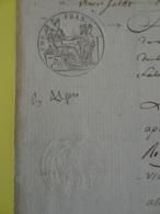 1811 (Basses-Alpes) Timbre 75c En-tête Rectifié Intéressant Ville De Riez (Alpes-de-Haute-Provence) - Cachets Généralité