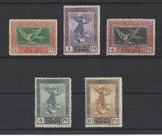 ESPAGNE.  YT   PA N° 45/49  Neuf *  1930 - Poste Aérienne