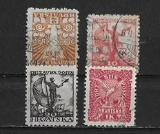 Yougoslavie Yv. 53 56 57 Et 60 O. - Oblitérés