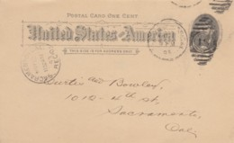 Sc#UX10 1c Grant 1891 Postal Card, Request For Property Insurance Policy, Pacific States Savings Loan & Building Company - ...-1900