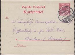 Kartenbrief 10 P. Adler Im Kreis, HAMBURG-EIMSBÜTTEL 7.2.98 Nach BRESLAU 8.2.98 - Deutschland