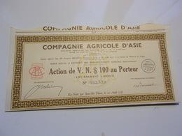 COMPAGNIE AGRICOLE D'ASIE (vietnam) - Non Classés