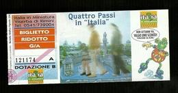 Biglietto Di Ingresso Parco Giochi - Italia In Miniatura Rimini Anno 2.000 (Ridotto) - Biglietti D'ingresso
