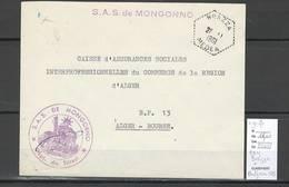 Algerie - Lettre  - Cachet Hexagonal BRAZZA + MONTGORNO SAS- Marcophilie - Algérie (1924-1962)