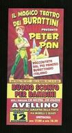 Biglietto Ingresso - Teatro Dei Burattini - Peter Pan  Cm. 14x6 - Biglietti D'ingresso