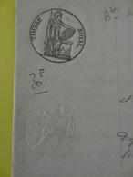 1842 (Basses-Alpes) Timbre 1f25c Marie Filhes Riez + Parfumeur à Marseilles (Alpes-de-Haute-Provence) - Cachets Généralité