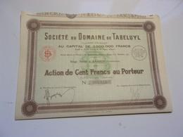 DOMAINE DE TABELUYL (1928) Saigon , Indochine - Non Classés